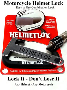 Lock any helmet to any motorcycle! Easy to Use. Don't carry your helmet around. Lock your helmet to your motorcycle in seconds.