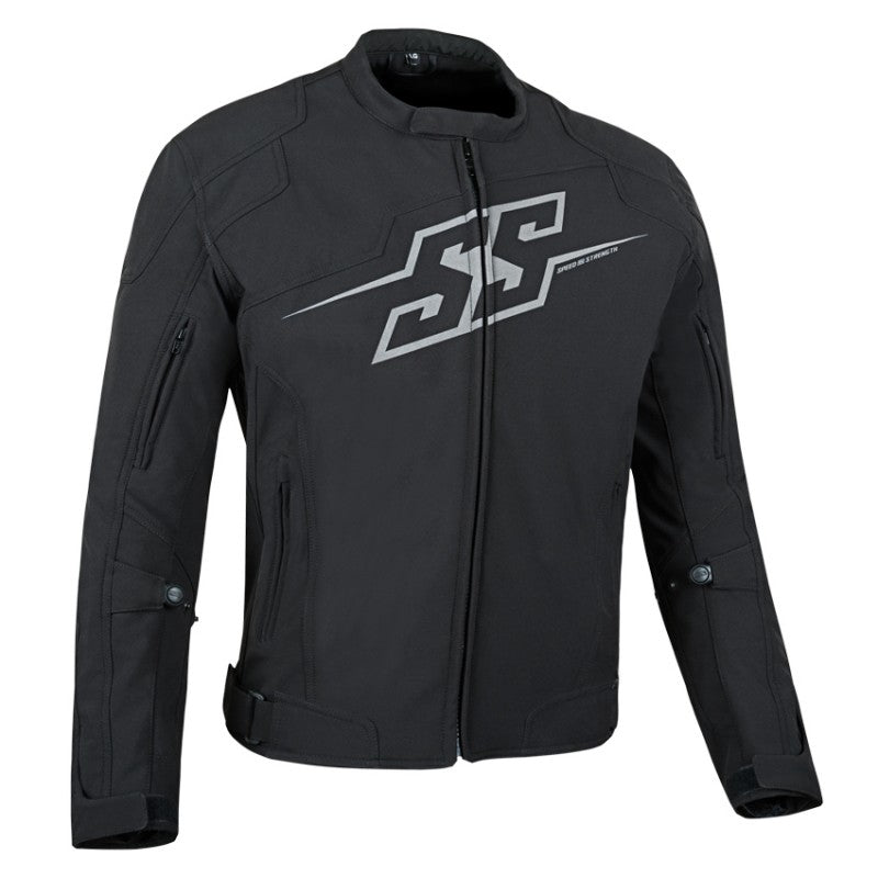 "Speed and Strength ""Hammer Down"" Black Textile Reflective Motorcycle Jacket"