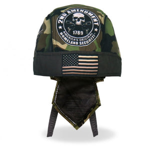 2nd Amendment Camo Skull DuRag