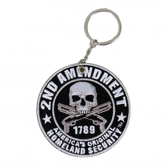 2nd Amendment - America's Original Homeland Security Embroidered Key Chain