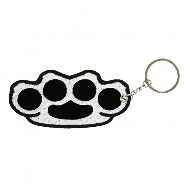 Brass Knuckles Embroidered Key Chain