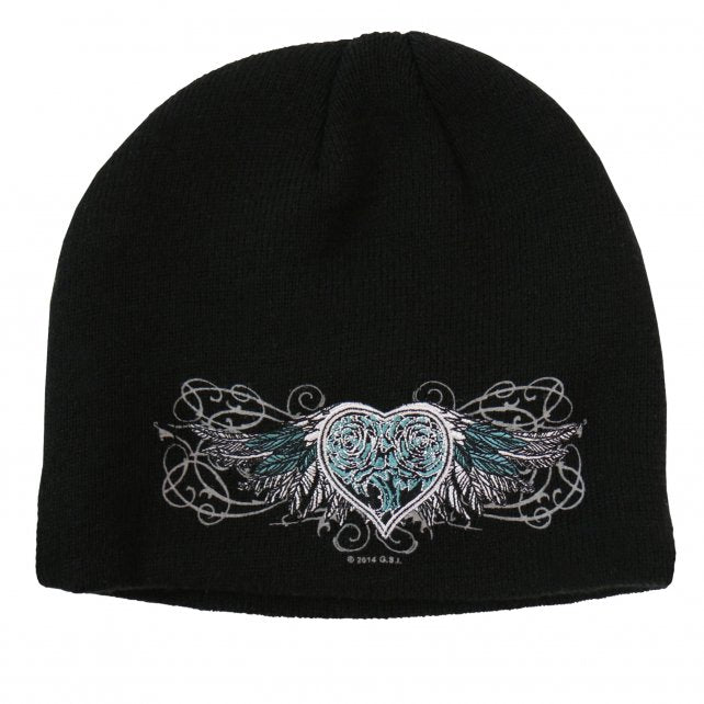 Sparkle Wings Knit Beanie