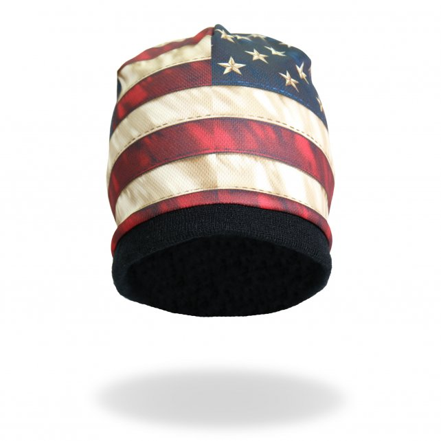 Distressed American Flag Sublimated Beanie