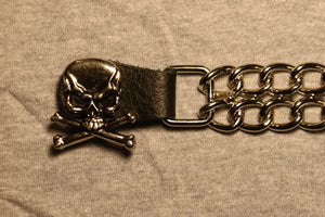 Skull and Crossbones Motorcycle Vest Extender