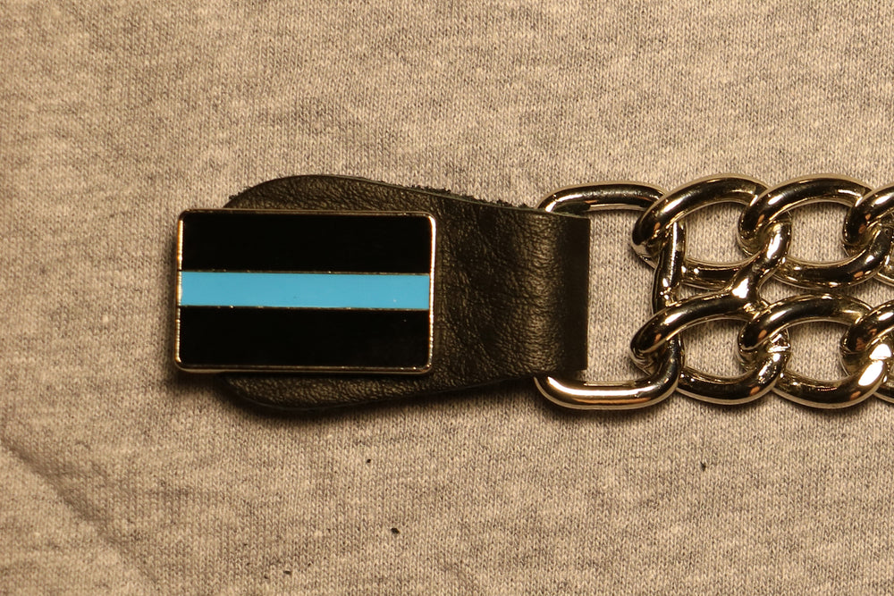 Thin Blue Line Motorcycle Vest Extender