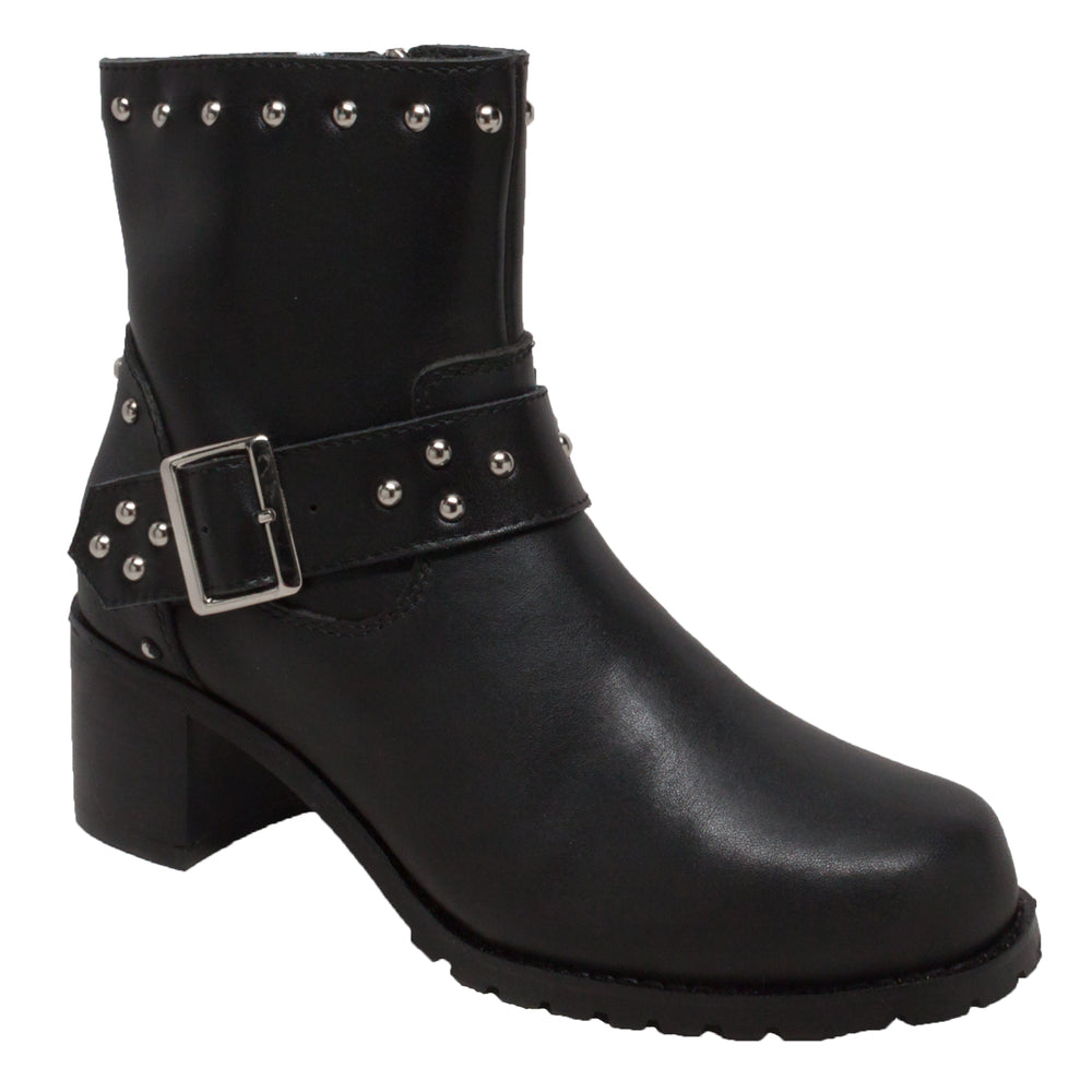 "Women's 8"" Heeled Buckle Biker Boot - 8811M"