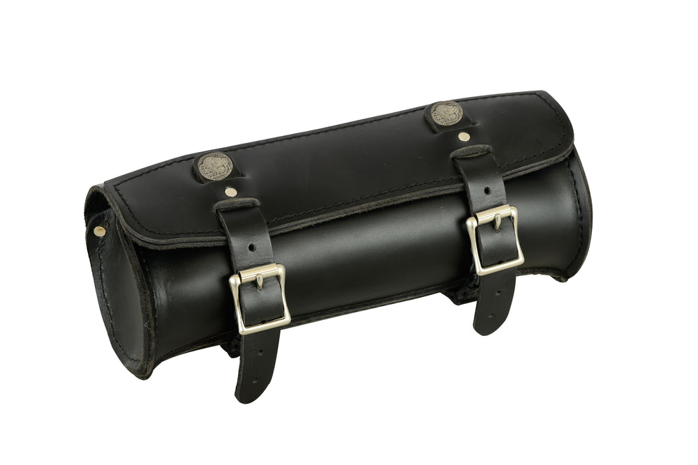 Premium Large Leather Round Tool Bag - DS4001