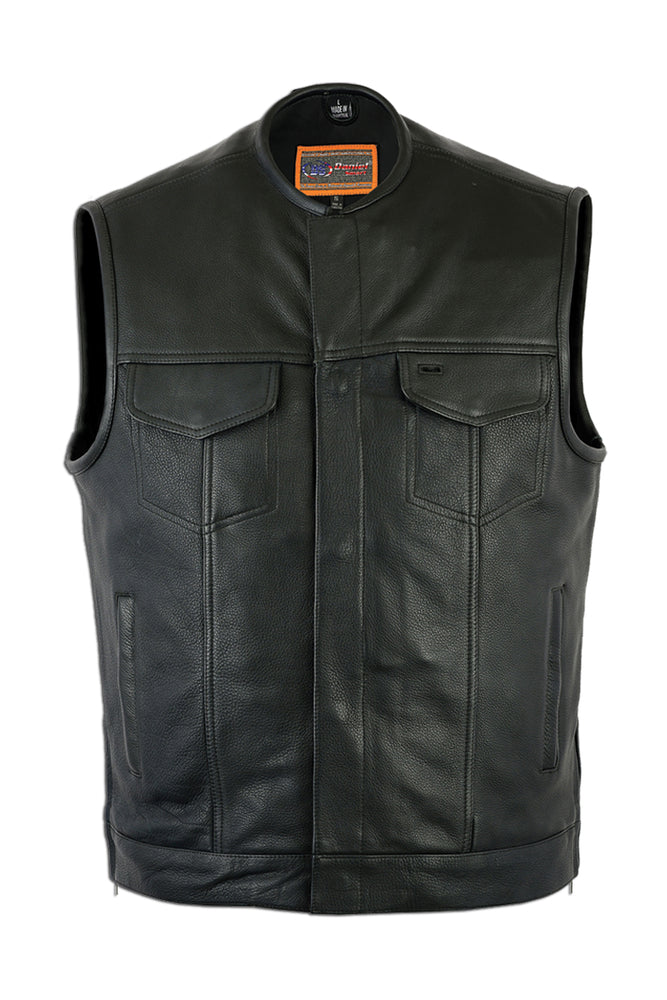 Men's DS177 Concealed Carry Gun Zipper - Snap Club Vest
