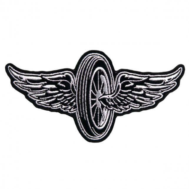 "11"" x 7"" - Flying Wheel Large Back Patch"