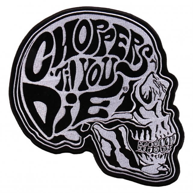 "9"" x 9"" - Choppers 'Til You Die Patch"