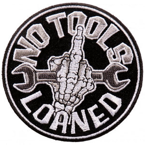 "3"" x 3"" - No Tools Loaned Patch"