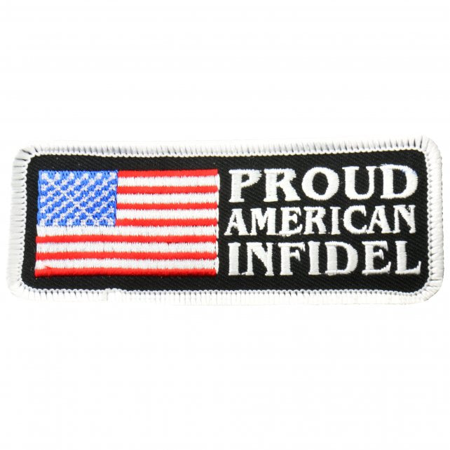 "4"" x 1.5"" - Proud American Infidel Patch"