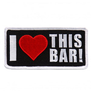 "4"" x 3"" - I ♥ This Bar Patch"