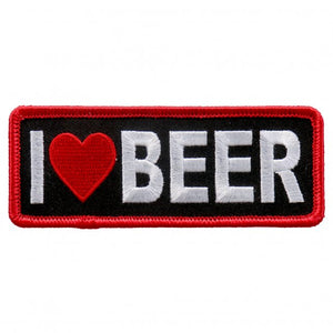 "4"" x 2"" - I ♥ Beer Patch"
