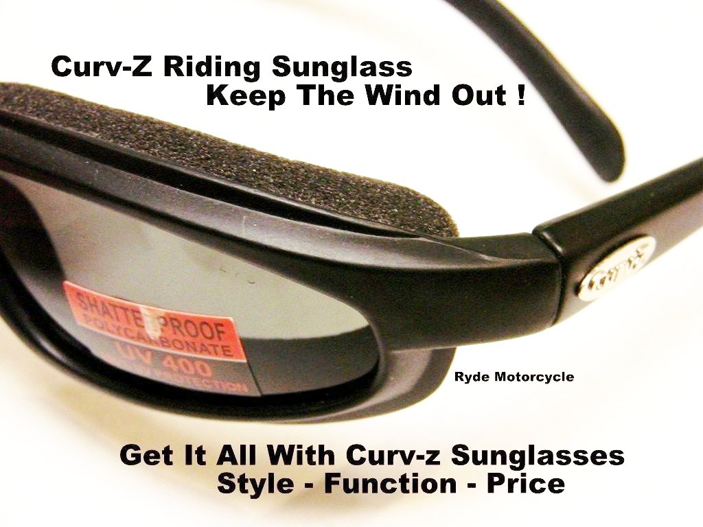 Curv Z Motorcycle Smoke Sunglass 02-01