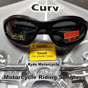 Curve Z Smoke Women Smaller Face Smoke Motorcycle Sunglass 02-14