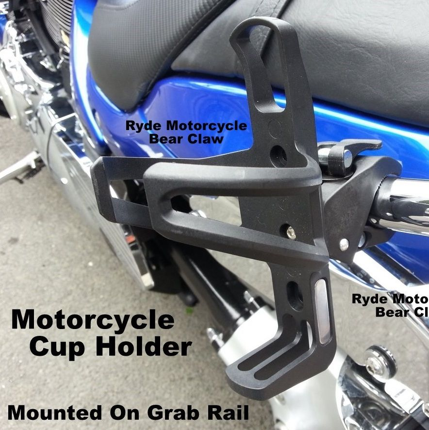 Chrome Accent Motorcycle Cup Holder