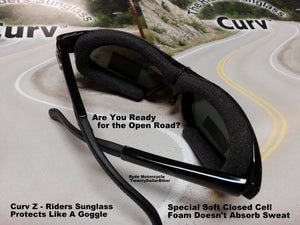 Curve Z Women Smaller Motorcycle Rhinestone Riding Sunglass 02-18