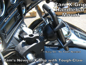 RAM X-Grip Tough-Claw Handlebar Mount - Holds LARGER Phones RAM-HOL-UN10-400U