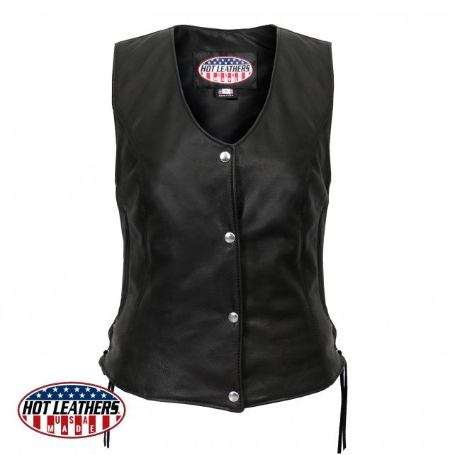 Women's Made In USA Vest - 4 Snap - Side Lace