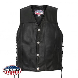 Made in U.S.A. Buffalo Nickel Vest with Side Lace