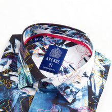 Load image into Gallery viewer, Blue floral button down, Avenue 21