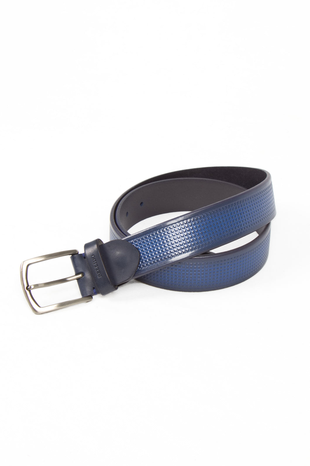 Navy Blue Textured Belt, Miguel Bellido