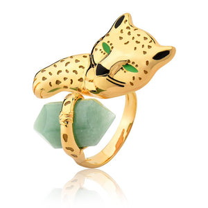 Green Gold Jaguar Ring - ORIGENS
