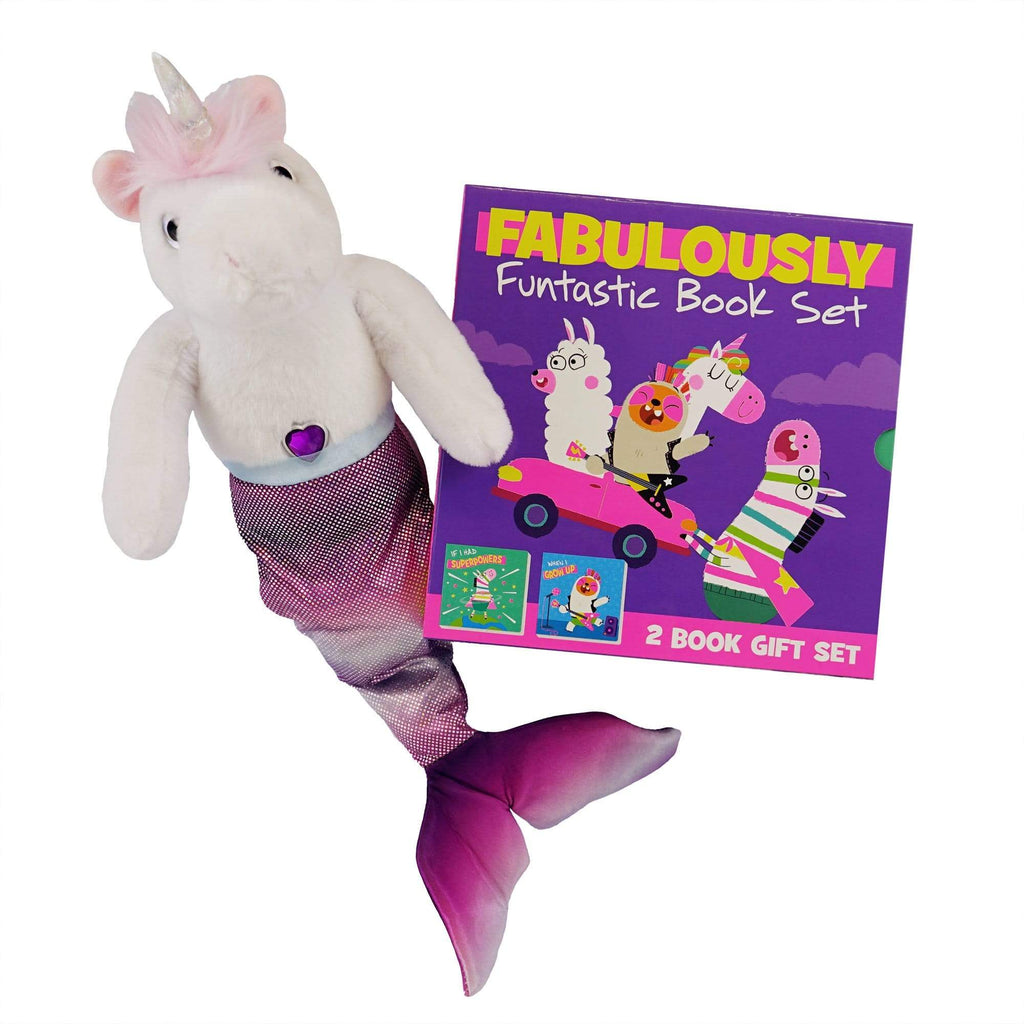 Marissa's Books & Gifts, LLC 4157329722 Funtastic Mercorn Plush Toy and Book Set