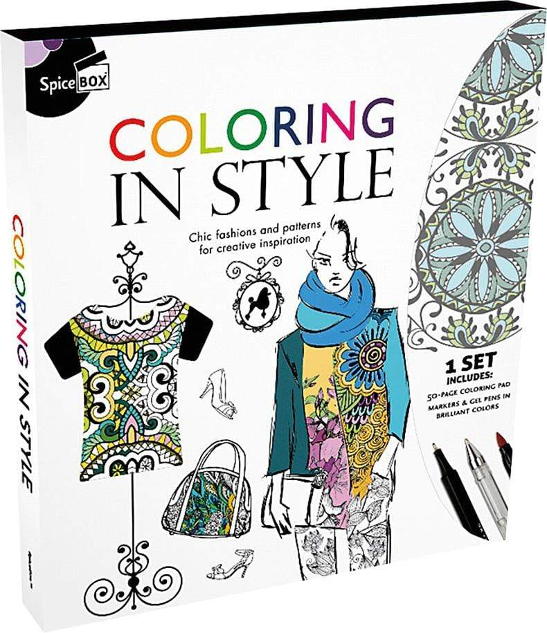 Marissa's Books & Gifts, LLC 628992008318 Coloring In Style