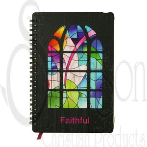 Marissa's Books & Gifts 788200608690 Stained Glass Journal: Faithful