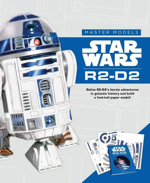 Marissa's Books & Gifts, LLC 9780760355053 Star Wars Master Models R2-D2: Relive R2-D2s Heroic Adventures in Galactic History and Build a Foot-Tall Paper Model