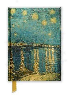 Marissa's Books & Gifts 9780857756626 Van Gogh Starry Night Over the Rhone Foiled Journal Size 8.5''x 6.125''