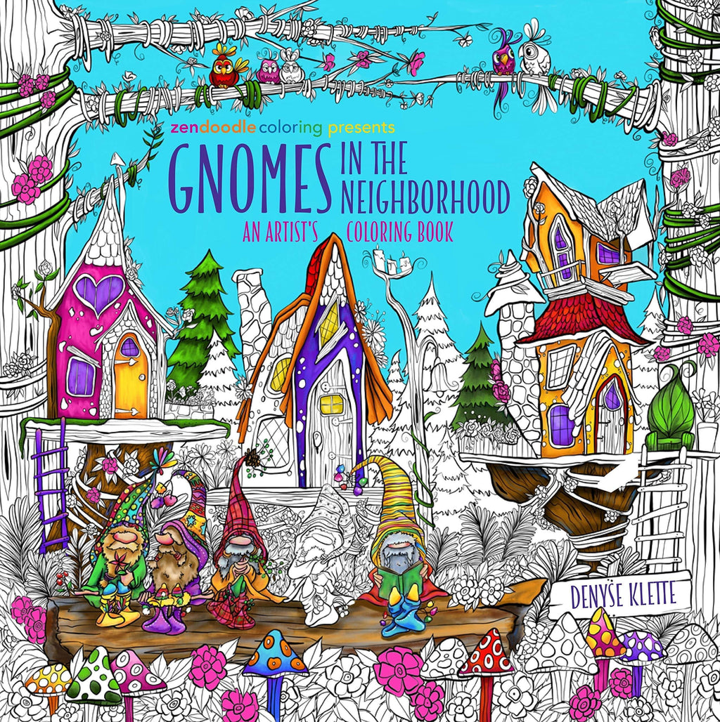 Marissa's Books & Gifts, LLC 9781250294838 Zendoodle Coloring Presents Gnomes in the Neighborhood