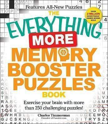 Marissa's Books & Gifts 9781440505553 The Everything More Memory Booster Puzzles Book: Exercise your brain with more than 250 challenging puzzles!