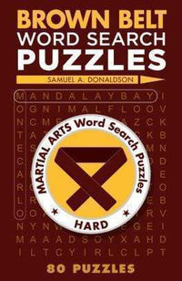 Marissa's Books & Gifts 9781454912088 Brown Belt Word Search Puzzles