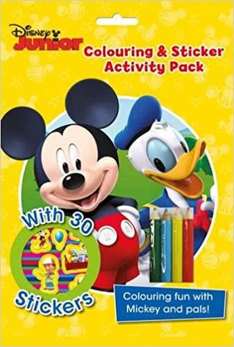 Marissa's Books & Gifts, LLC 9781474837064 Disney Junior Colouring & Sticker Activity Pack: Colouring Fun with Mickey and Pals!