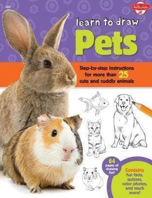 Marissa's Books & Gifts, LLC 9781600584442 Learn to Draw Pets: Step-by-step instructions for more than 25 cute and cuddly animals