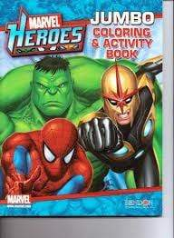 Marvel Heroes: Jumbo Coloring & Activity Book - Marissa's Books