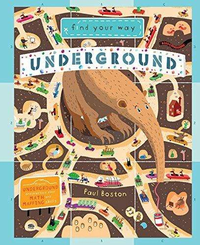 Marissa's Books & Gifts, LLC 9781682970461 Find Your Way Underground: Travel underground and practice your Math and Mapping Skills