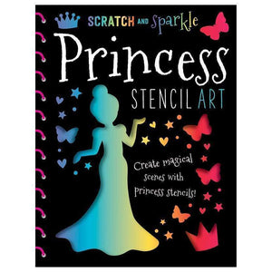 Marissa's Books & Gifts, LLC 9781785980732 Scratch and Sparkle Princess Stencil Art