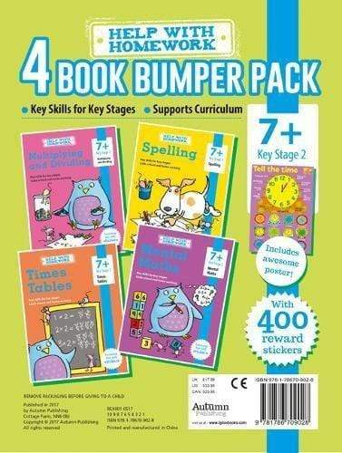 Marissa's Books & Gifts, LLC 9781786709028 Help with Homework: 4 Book Bumper Pack, Spelling, Math, and Times Tables