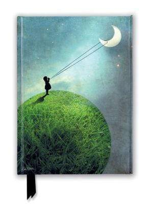 Marissa's Books & Gifts 9781787555563 Catrin Welz-Stein: Chasing the Moon (Foiled Journal)Size 8.5''x 6.125''