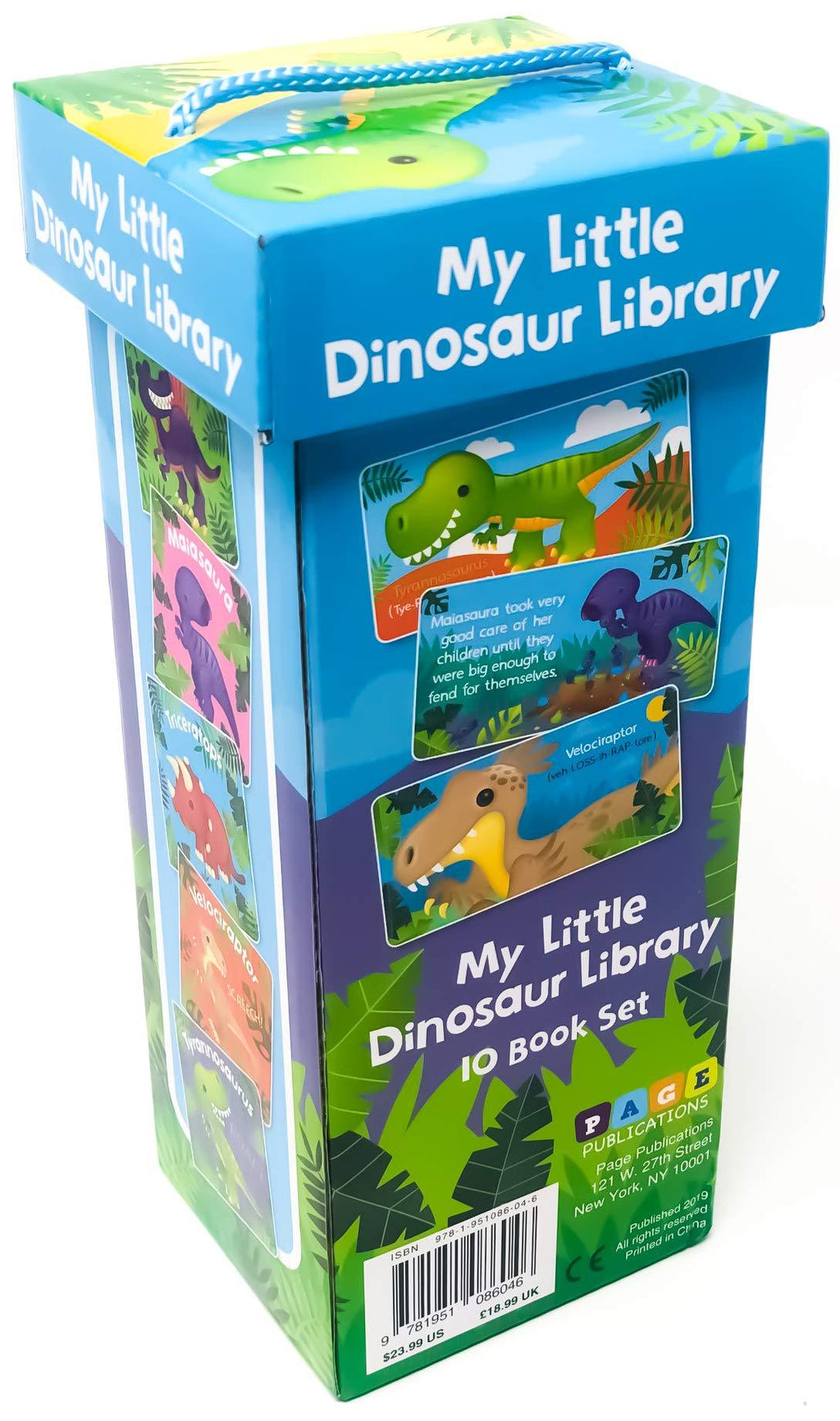 Marissa's Books & Gifts, LLC 9781951086046 Little Dinosaur Library (10 Book Set)