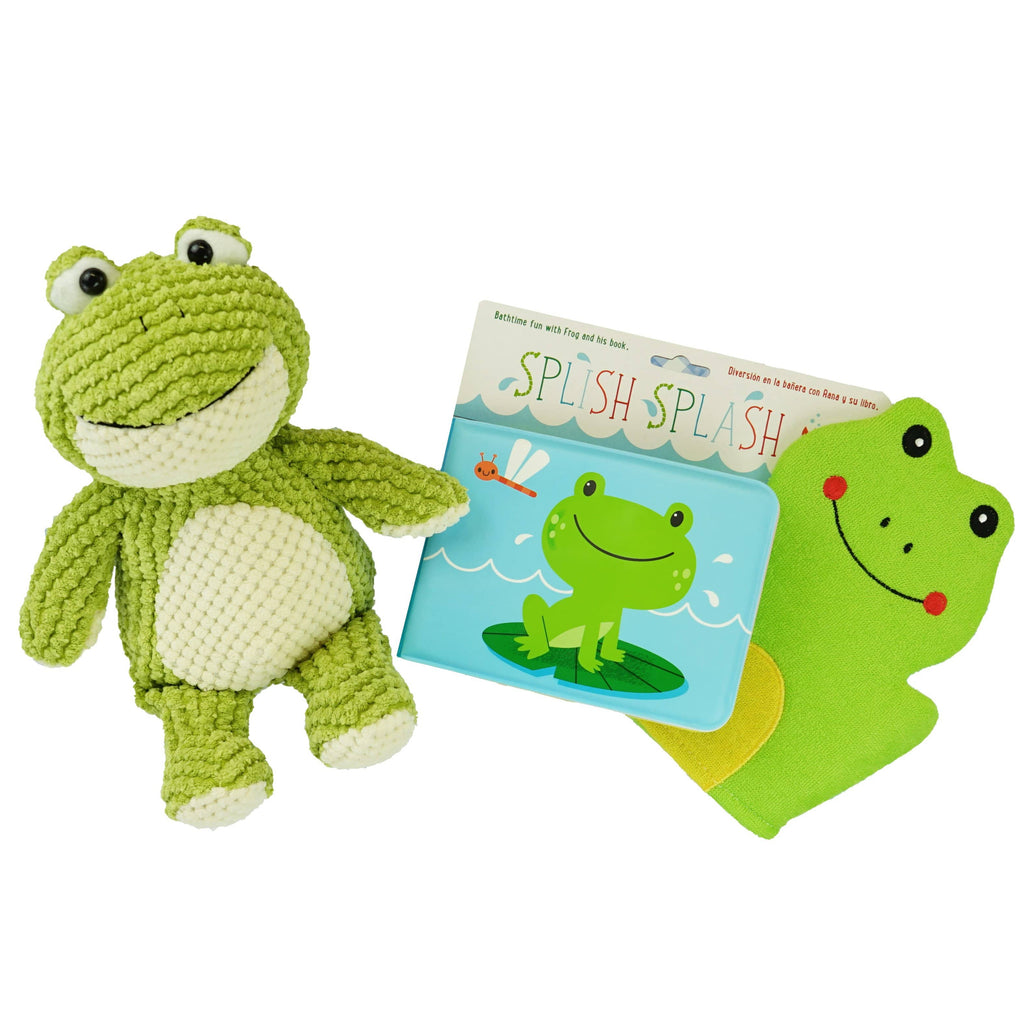 Marissa's Books & Gifts, LLC Bathtime Froggie Plush Toy and Book Set