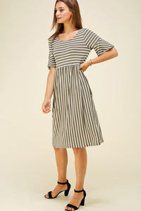 Olive Bliss Stripe Dress