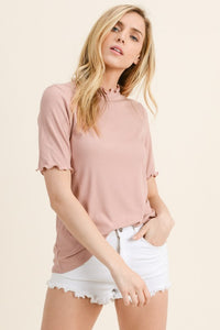Little Things Detail Top (in Rose or Ivory)