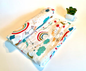 Sweet Dreams | Muslin Swaddle Blanket