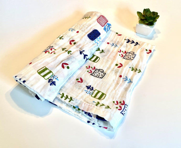 Succulent | Muslin Swaddle Blanket