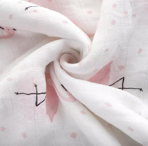 Flamingo | Muslin Swaddle Blanket